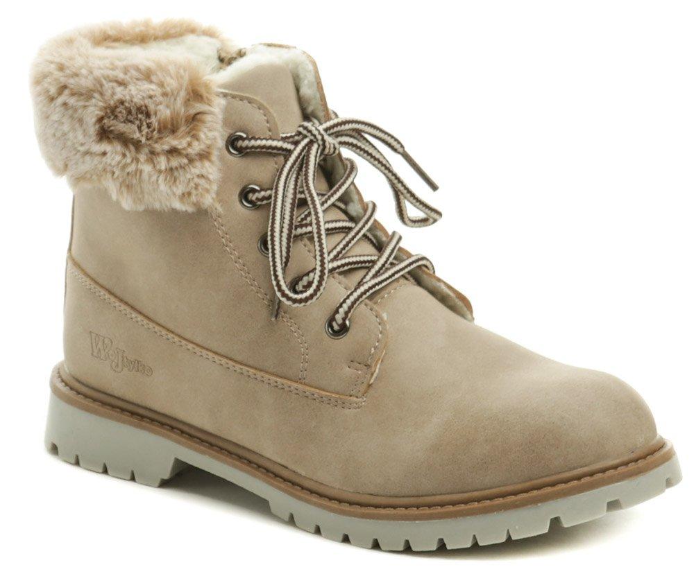 Wojtylko 5z9079 béžové dívčí zimní boty EUR 34