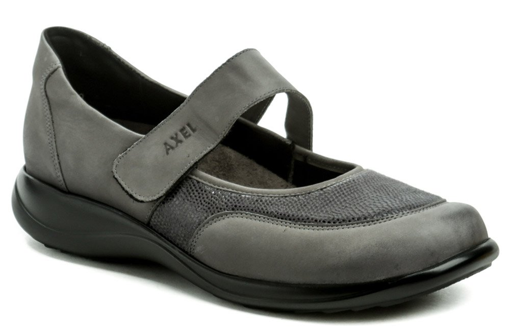 Axel AXCW062 šedé dámské polobotky boty šíře H EUR 37