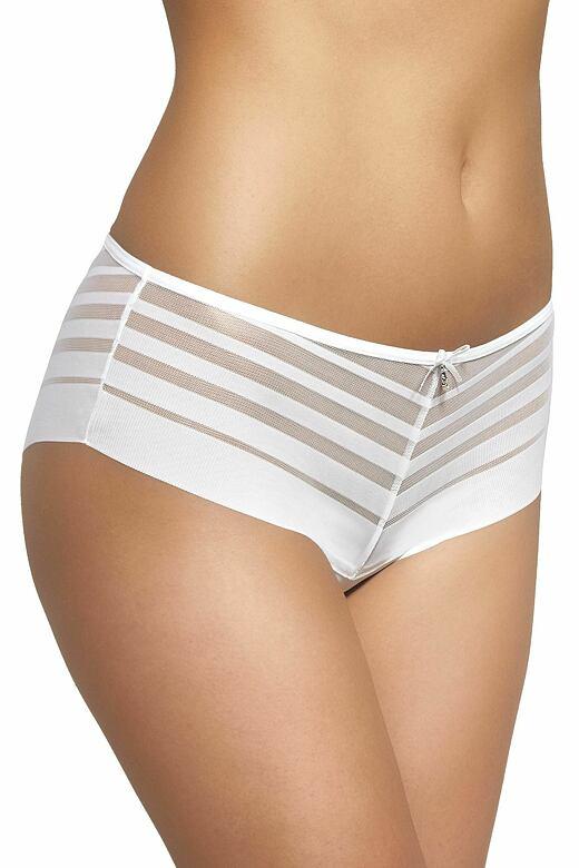 Dámské kalhotky s nohavičkou 199 bílé