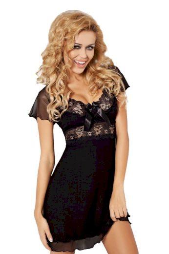Dámská viskózová noční košilka Paulina černá