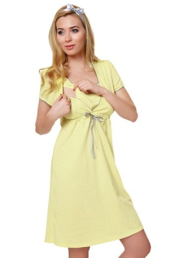 Bavlněná těhotenská noční košile Felicita žlutá
