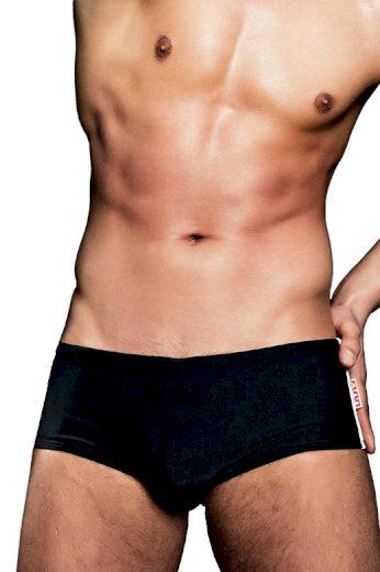 Alpha Male boxerkové plavky Stylo černé