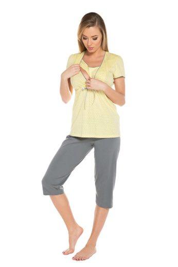 Těhotenské a kojicí pyžamo Felicita žluté