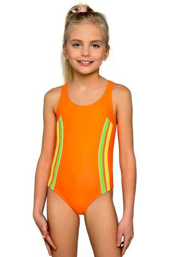 Dívčí plavky Klárka neonové