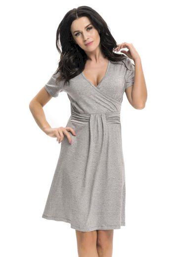 Těhotenská a kojicí košile Tara šedá
