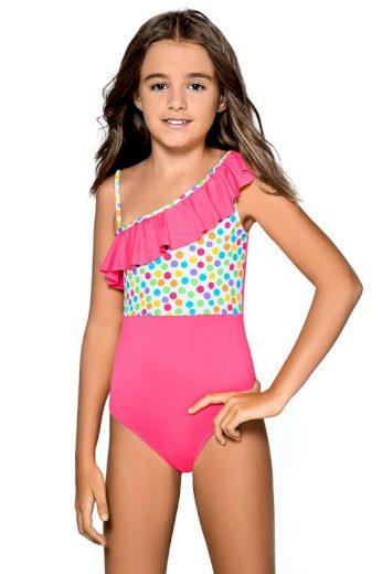 Dívčí jednodílné plavky Anetka růžové