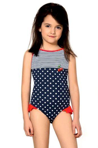 Dívčí jednodílné plavky Sárinka modré