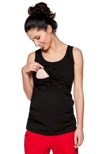 Těhotenský a kojicí top Lea černý