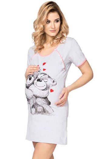 Mateřská noční košile Teddy Bear šedá