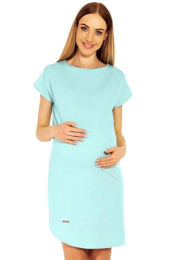 Těhotenské šaty Terry tyrkysové