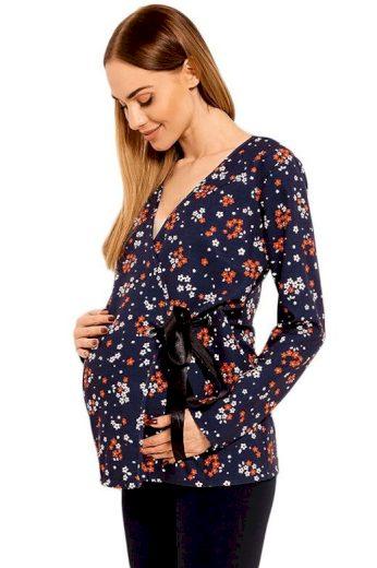 Těhotenská dámská blůza Katie modrá