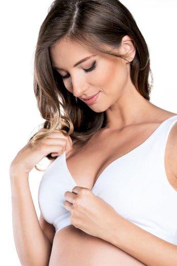 Bavlněná soft kojicí podprsenka Lux bílá