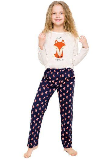Dívčí pyžamo Sofinka béžové s liškou