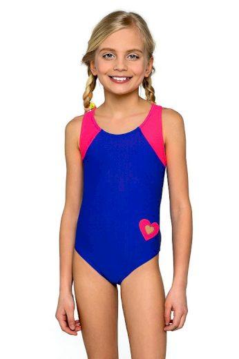 Dívčí jednodílné plavky Eliška modrorůžové
