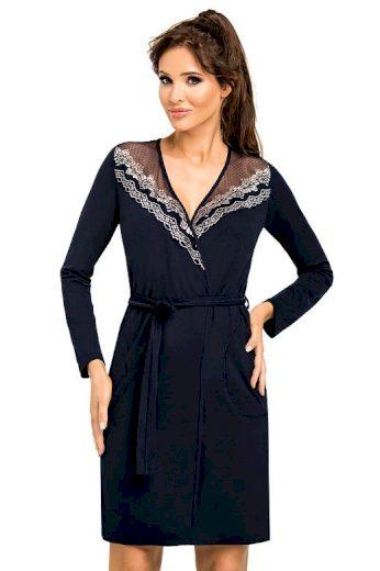 Luxusní dámský župan Jasmine tmavě modrý