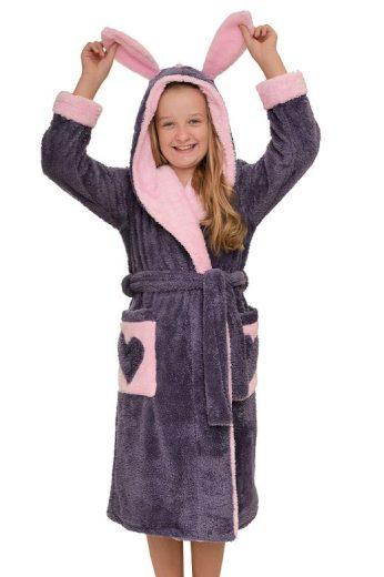 Dívčí župan Emma fialový