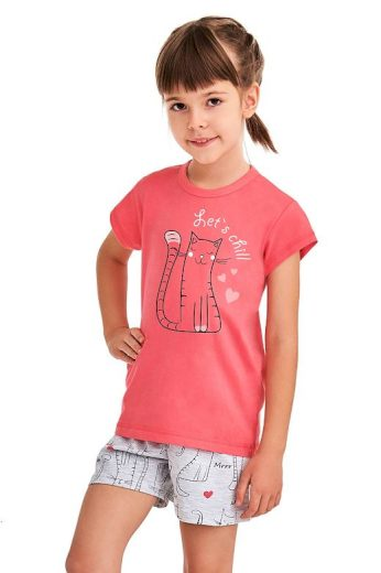 Dívčí pyžamo Hanička růžové Lets chill