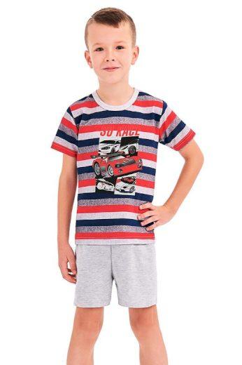 Chlapecké pyžamo Max červené proužky