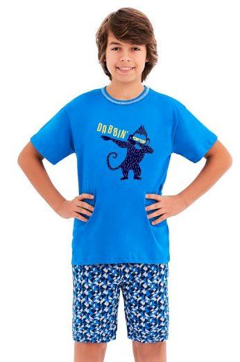 Chlapecké pyžamo Damián modré opice