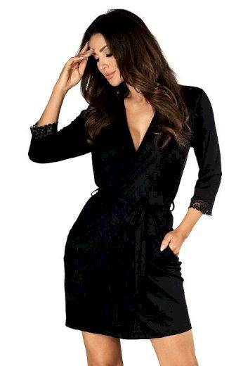 Dámský luxusní župan Eleni černý