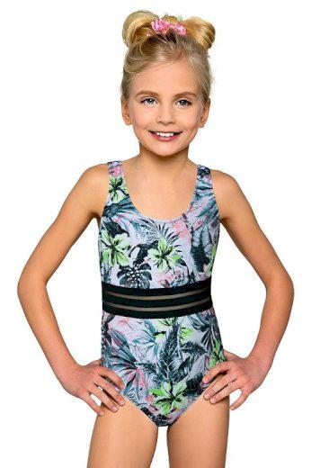 Klasické jednodílné dívčí plavky Adrianka květinové