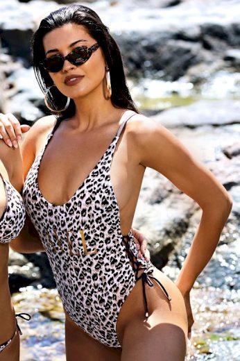 Jednodílné plavky Pamela gepardí vzor