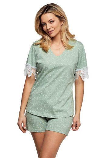 Luxusní dámské pyžamo Olivia zelené