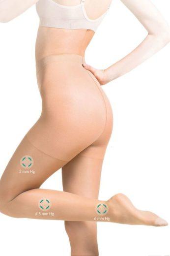Lehce kompresní punčocháče Medica Relax béžové