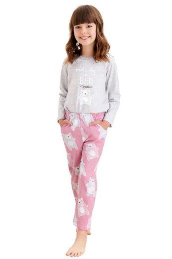 Dívčí pyžamo Sofia šedé medvídek