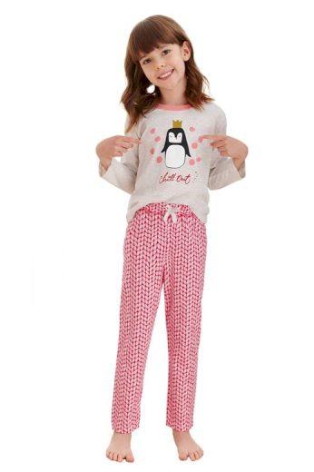 Dívčí pyžamo Maja béžové tučňák