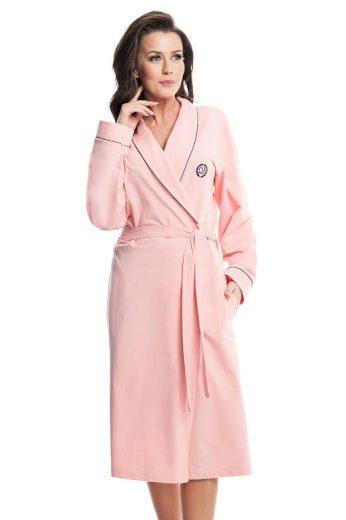 Dámský bavlněný župan Daphne růžový