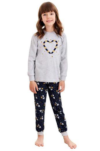 Dětské pyžamo Ada šedé s vánočními paličkami