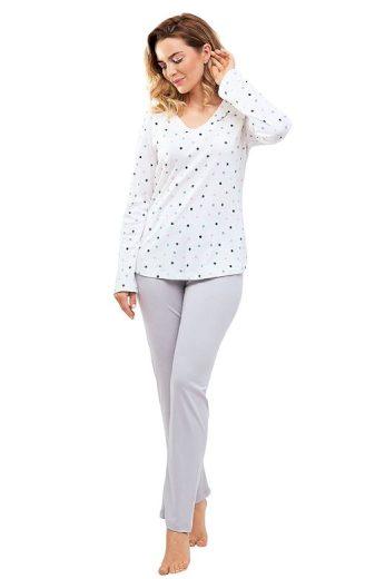 Dámské pyžamo Margot s barevnými puntíky