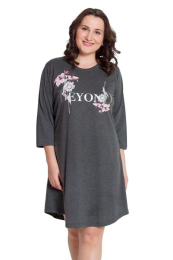 Dámská noční košile Beyond tmavě šedá
