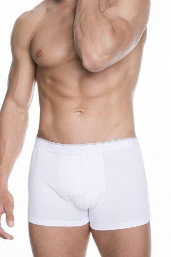 Bezešvé pánské boxerky Iron bílé