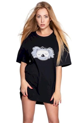 Noční košile Koala černá