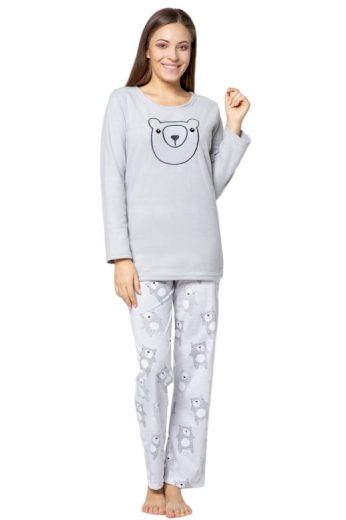 Dámské pyžamo Polar bear šedé