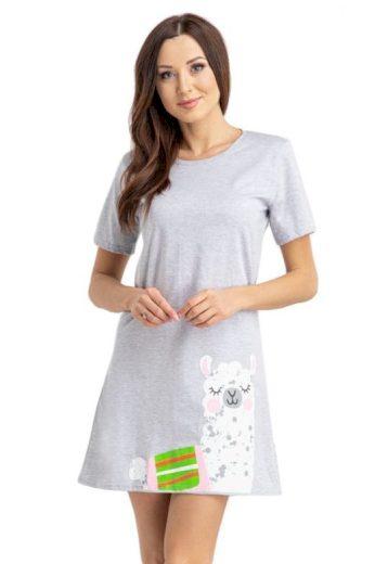 Dámské tričko na spaní Alpaka světle šedé