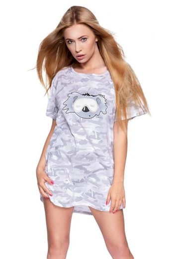 Dámská košilka Ambrell šedá maskáčový vzor s koalou
