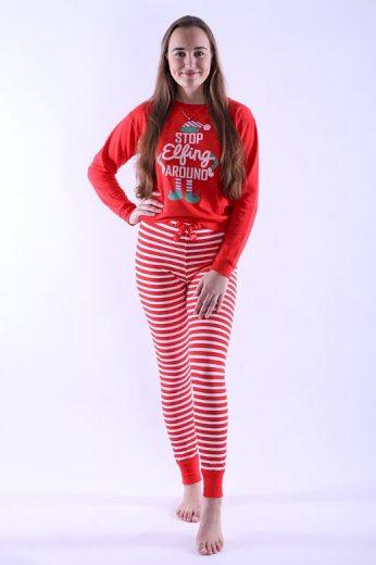 Dámské pyžamo Caytlin červené