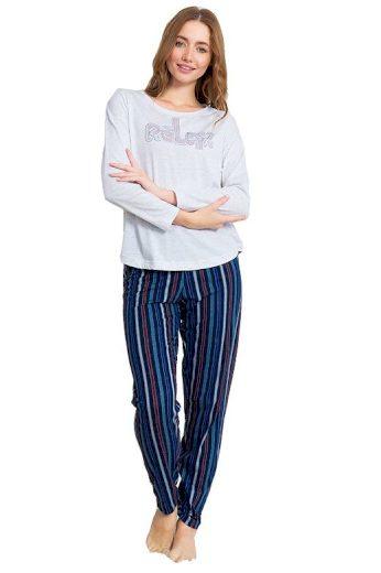 Dámské pyžamo Stacy šedé relax