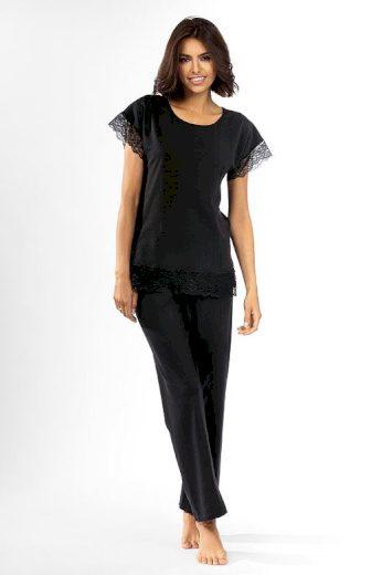 Dámské pyžamo Avery černé s krajkou