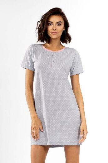 Dámská noční košile Becca šedá s tečkami