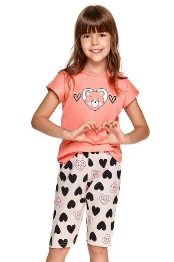 Dívčí pyžamo Amelia růžové srdce