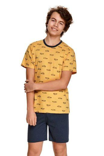 Chlapecké pyžamo Max žluté s auty