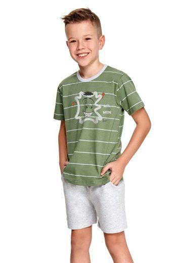 Chlapecké pyžamo Karlík zelené s pruhy