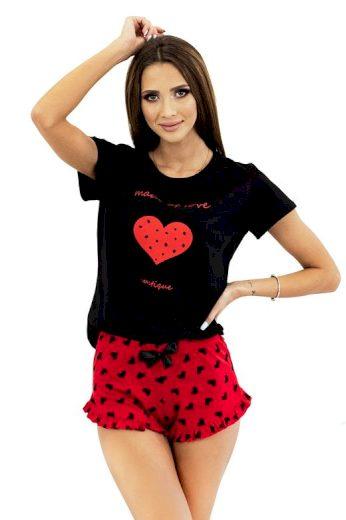 Dámské pyžamo Made of Love černé