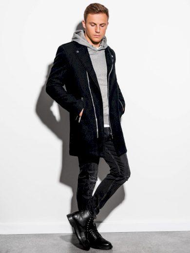 Jarní kabát C433 - černý