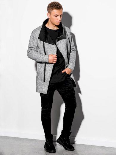Jarní kabát C442 - šedá