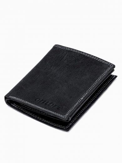 Pánská kožená peněženka A344 - černá